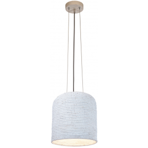 "Lampadario bianco design ""natural"" D.37cm Lopa"