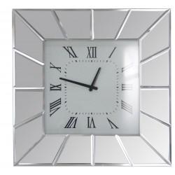 Orologio da parete quadrato specchio 40x40cm