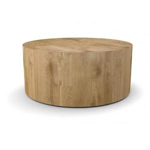 Tavolino salotto rovere chiaro rotondo D.90 cm