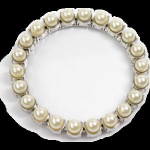 Sottobicchiere inox perle bianche