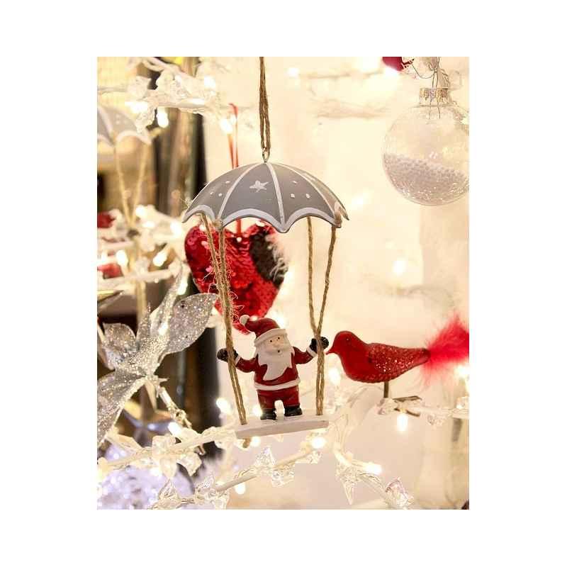 Sospensione di Natale Babbo Natale in paracadute