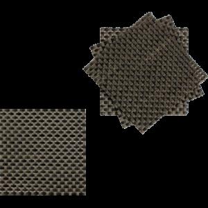 Sottobicchiere quadrato treccia beige e marrone