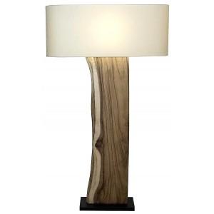 Lampada da terra in legno paralume ovale in lino H.147 cm Païa