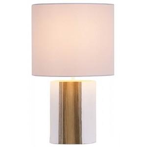 Lampade da tavolo legno bianco paralume in cotone H.39 cm Lanai