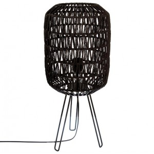 Lampade da tavolo paralume di corda nero H.57 cm