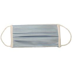 Maschera per adulti/bambini in tessuto a strisce blu AFNOR