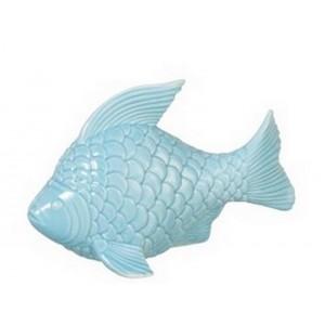 Pesce decorativo in porcellana blu