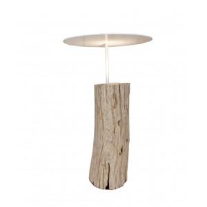 Set 2 lampade da terra legno naturale H.60 e 70cm