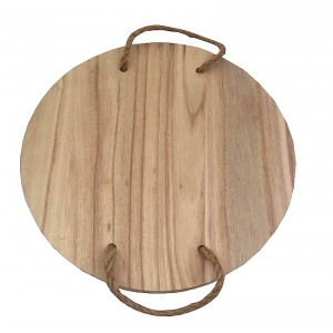 Vassoio rotondo in legno flottato D.30 cm