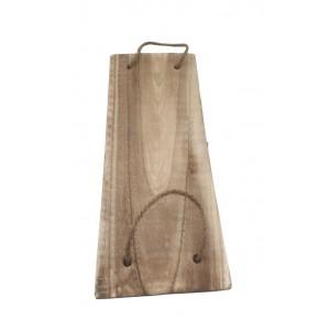 Piano rettangolare in legno flottato L.50 x l.20 cm