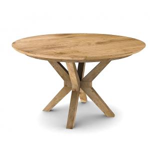 Tavolo da pranzo rotondo allungabile rovere chiaro D.130 cm