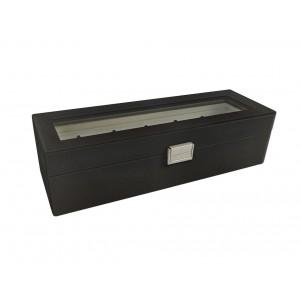 scatola nera per orologi 6 contenitori L33.5 x L12 x H9cm