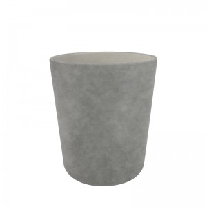 Cestino di carta nubuck grigio D25.5 x H28cm