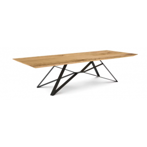 Tavolo da pranzo rovere gambe in metallo dorato L.240xl.100xH.78 cm