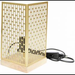 Lampe da tavolo design Nina quadrata dorata