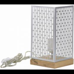 Lampada da tavolo design Nina quadrata argentata