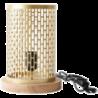 Lampada da tavolo design Nina rotonda dorata