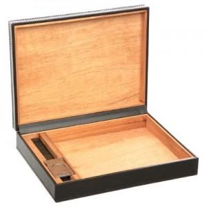 Scatola per sigari legno e simil pelle
