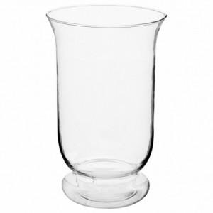 """Vaso """"svasato"""" in vetro trasparente D.15.5 x H.24 cm"""